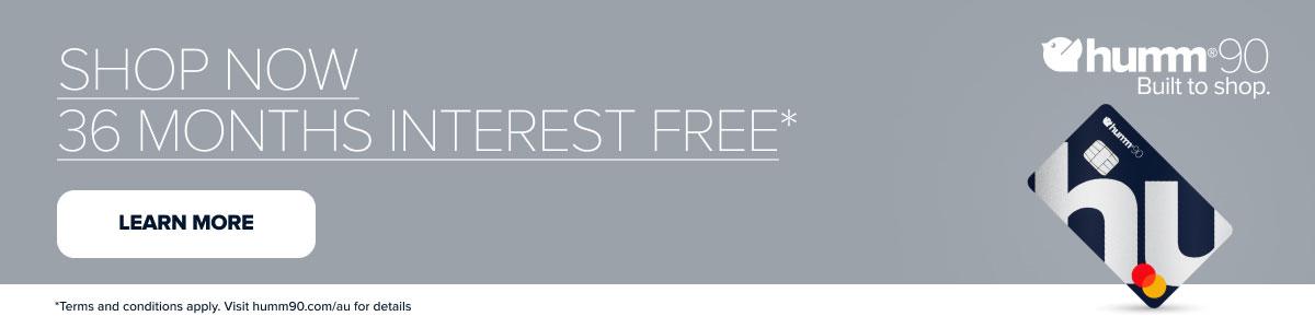 Humm90 Interest Free Shop Now 36 Months Banner