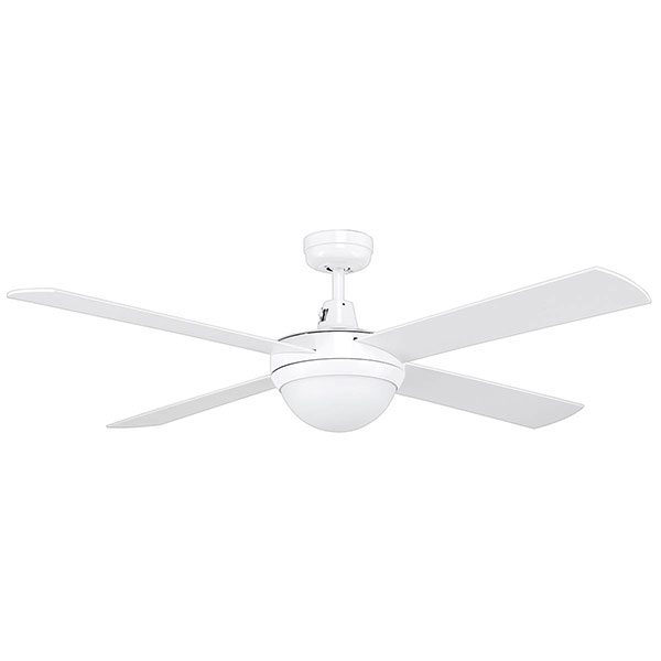 Tempest 52 Ceiling Fan With Light White