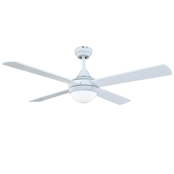 4 Blade Tempo 48inch Ceiling Fan White With Light By Brilliant Bri100010