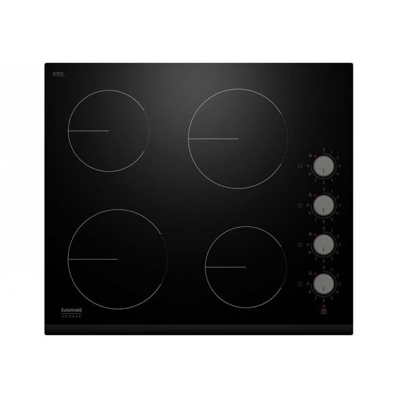 Euromaid Ecck64 600mm Knob Control Ceramic Cooktop