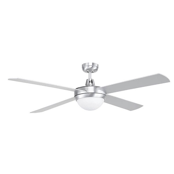 Tempest 52 Ceiling Fan With Light Brushed Chrome