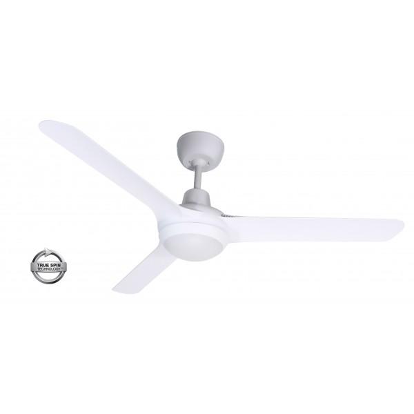 Spyda Ceiling Fan White with Light Spy1253NWH